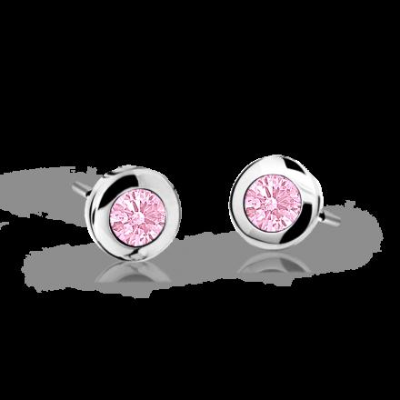 Kolczyki dziecięce Danfil C1537 białego, Pink, wkręt