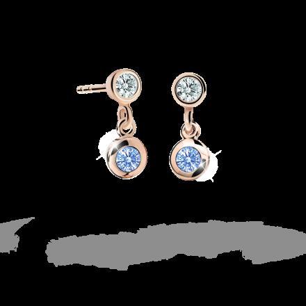 Kolczyki dziewczęce Danfil C1537 różowego, Arctic Blue, puzeta