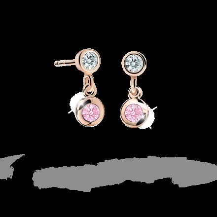 Kolczyki dziewczęce Danfil C1537 różowego, Pink, puzeta